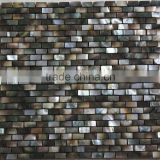 8mm Thickened blacklip mother of pearl mosaic can mix with stone mosaic,glass mosaic,bathroom tile