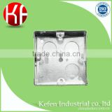 BS standard galvanized steel junction metal switch box with K.O. hole for weak current installation