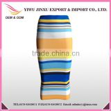 2016 New Design Fashion Indian Women Bust Skirts Stripes Printed Tight High Waist Cheap Muslim Dresses Long Skirts