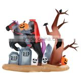 9ft X 7 Ft Halloween Animated Headless Horseman Graveyard Airblown Inflatable Rare!