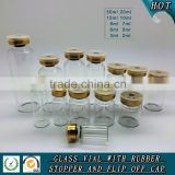 Clear glass injection vials with rubber stopper and aluminum flip off cap                                                                         Quality Choice