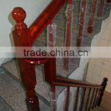 Red oak handrail stairs wood baluster design