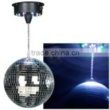 Home indoor and outdoor led lighting rotating and shining mirror ball disco ball christmas ball