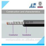 Single-core Non-sheathed wires wholesale/ manufacture Fire Resistant Cable with Rigid Conductor for general purposes