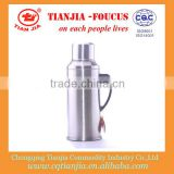 Promotional Bullet Shaped S/S Vacuum Bottle 2L with plastic handle and stopper (118 )