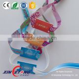 Frabric 13.56MHz RFID Wristbands 15693/Festival ticket fabric / woven rfid disposable wristband