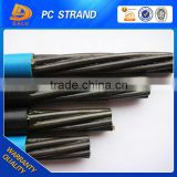 Standarder ASTM A 416 SIZE 12.7mm / 15.2mm / 15.24mm prestressed concrete steel strand 7 wire PE coated pc strand