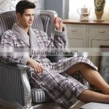 Men's super soft thermal coral fleece bathrobe