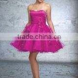 New Arrived Ball Gown Tea-Lenght Sweetheart Neck Evening Dress & Short Dress DEP-028