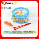 plastic cartoon drum set toy for kid