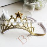 Glitter Star Tiara Elastic Hairband for 1 To 3 Years Old Baby Girls