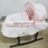new products embroidery baby carry moses basket moses basket stand baby wicker moses basket