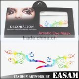 Paper-cut hollow eye mask tattoo sticker with many colors