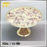 china supplier gold ceramic birthday cake plate, ceramic hand painted turkish plates, cake holder for wedding