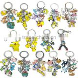 custom metal keychain wholesale Pokemon Pocket Monsters metal figures keychain                                                                                                         Supplier's Choice