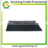 Anti-slip soft pvc/rubber bar runner, low price 2D/3D soft pvc bar pad, debossed /embossed logo bar mat