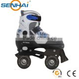 SENHAI/ACTION brand Kids Roller Skate Shoes PW-126-126 Quad Roller Skate Wheels Double Lines Flashing Roller Skates