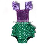 2016 kaiya summer cakes baby swim wear clothes green mermaid romper beach wear                                                                         Quality Choice
