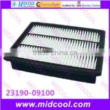 High quality air filter cabinfilter for 23190-09100 2319009100