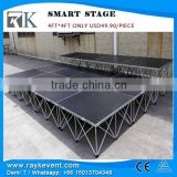 Hot promotion cheap portable stage/ portable folding stage stairs/trailer mobile stage for sale