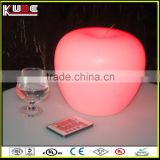 Wireless Apple Shaped Table Lamp Rechargeable Christmas Decoration Lamp with Remote Control