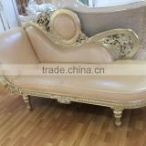 Luxury chaise lounge for bedroom, royal chair, sofa bed