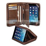 Retra Leather Business Executive Portfolio Case Folder With Notepad Space and Pockets for Tablet