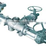 Electric type jacketed melt flow control valve