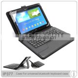 "bluetooth keyboard leather case for 10 inch tablet universal 9"" 10"" keyborad case"