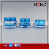 wholesale acrylic jar blue transparent 15g 30g 50g capacity acrylic cosmetic jar/acrylic jars /promotional plastic cosmetic jar