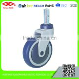 100mm-125mm plastic precision ball bearing swivel head caster
