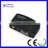AV To VGA Composite Video AV S-Video RCA to PC Laptop VGA TV Converter adapter box Hot Worldwide (CVBS)