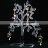 2014 laser cut tree clear acrylic pendant jewelry display