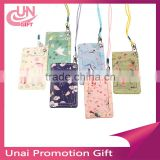 Beautiful Flower Credit ID Card Holder Travel Luggage Name Tag Lanyard Badge Holder