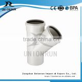 PVC DIN Water Drainage Pipe Fitting 45 Degree Lateral Tee