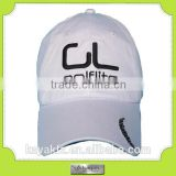 Custom white golf fitted cap, good quality cap