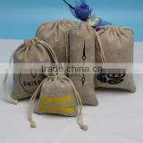 Super quality stylish drawstring burlap pouches for jewelry