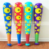 Baseball Bat / Mallet / Basher Smiley Face Inflatable Blow Up Kids Toy NEW