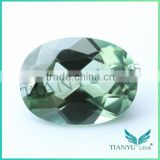 Factory wholesale price egg shape 149# apple green spinel