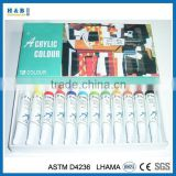High quality 12 Color artist acrylic color set