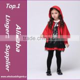 Girls Halloween Costumes Little Red Riding Hood Dress Cosplay Stage Wear Clothing Sets Kids Party Fancy Ball Clothes
