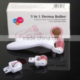Hair loss treatment 3 in 1 facial,body skin care derma rollers with private lable -L013B