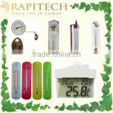 Gardening Indoor Outdoor Plastic Wooden Metal Deorative Thermometer Wall Thermometer
