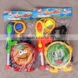 wholesale outdoor shoot game summer toys plastic water gun with colorful handle for kids and children
