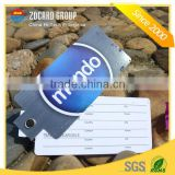 CR80 Top Quality Plastic Pvc Airline Bag Tags With Strap