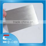 china customized blank stainless steel card with wire drawing finish free samples