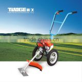 Best sale hand push grass cutter with straight matel blade weeding machine 52cc/35cc/26cc