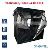 Indoor Hydroponics 99% Highly Reflective Fabric 600D / 1680D Durable Mylar Plant Grow Tent
