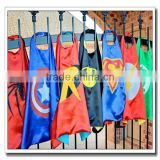 2016 popular kid's superhero capes and masks for halloween