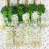 white flower Artificial wisteria wedding flower